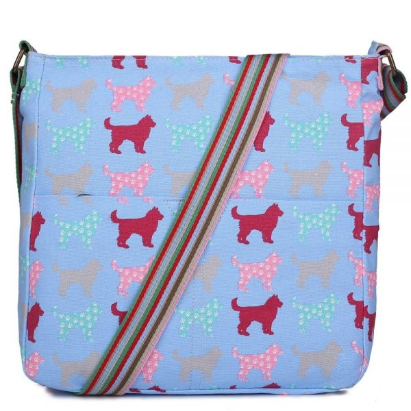 Ladies Designer Fashion Canvas Square Bag Dog