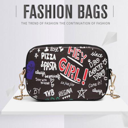 Women Leather Handbag Ladies Cross Body Satchel Shoulder Chain Bag