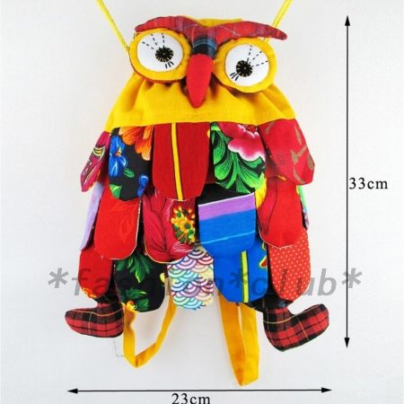 Cute Owl Kids Boys Girls Children Backpack Purse School Bag Satchel Handmade