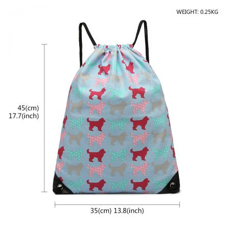 UNISEX DRAWSTRING CASUAL BACKPACK GYM BAG-lightblue