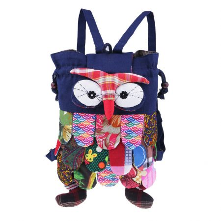 Dark blue kids owl bag