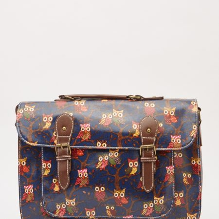 ... CASE COLLEGE SCHOOL BAGS - GIFTS £21.99 £18.99  Large Satchel Owl Print  Bag 26b8843b02396
