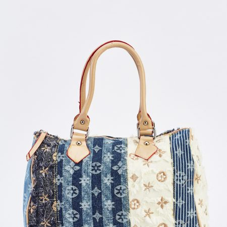 multi-patched-contrast-duffle-bag-blue