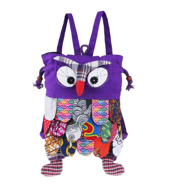 purple owl bags