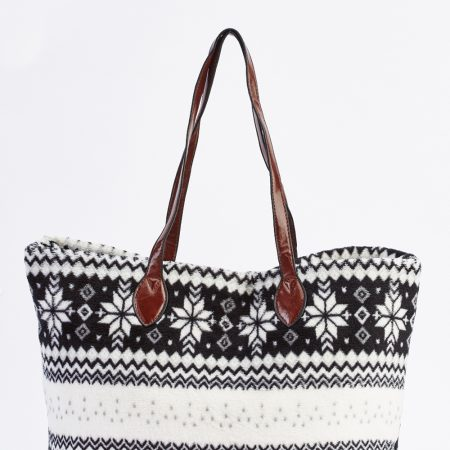snowflake-fleece-tote-bag-black-88322-4