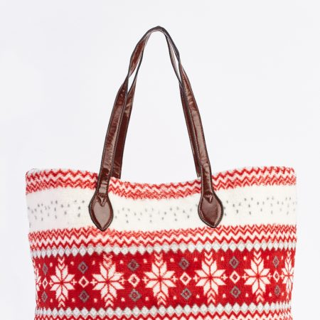 snowflake-fleece-tote-bag-red-88322-5