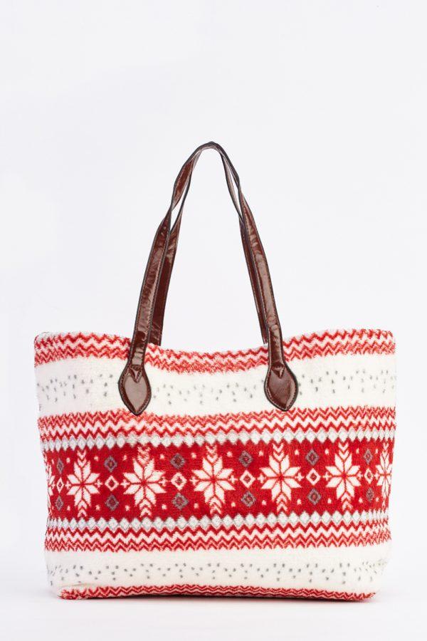snowflake-fleece-tote-bag-red-88322-5