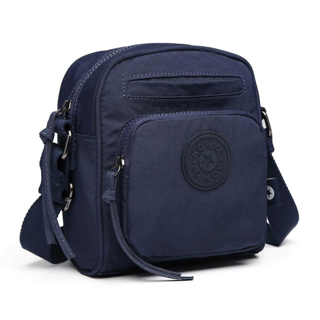 BLUE - Women Satchel Messenger Small Crossbody Bag Nylon Short Hiking - Ladies Handbags UK