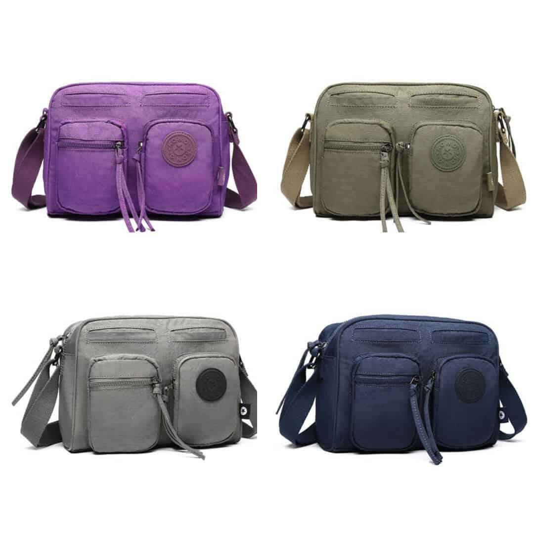 Unisex Causal Shoulder Satchel Messenger Crossbody Bag