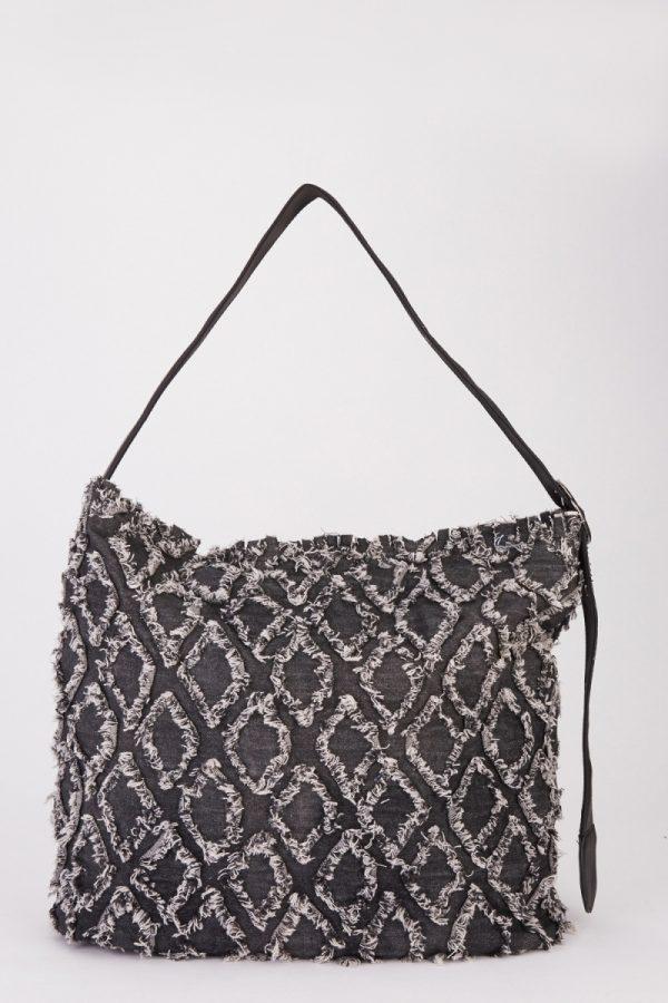 black denim bags