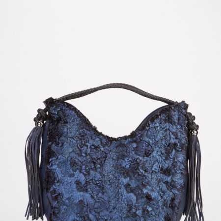 tassel-faux-fur-handbag-blue