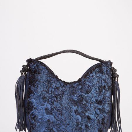 tassel-faux-fur-handbag-blue